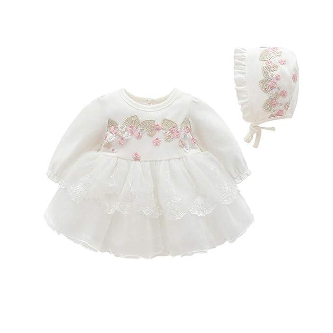 Vestido de Tul con Bordado para Niñas K-Youth Primavera Niños para 0 ... aaf086d962ae