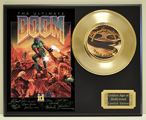Doom Limited Edition Gold 45 Record Display. Only 500 made. Limited quanities. FREE US SHIPPING
