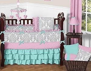Boutique Skylar Polka Dot 9 Piece Girl Crib Bedding Set by Sweet Jojo Designs