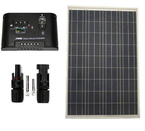 100 W Watt Polycrystalline PV UL1703 Solar Panel and Char...