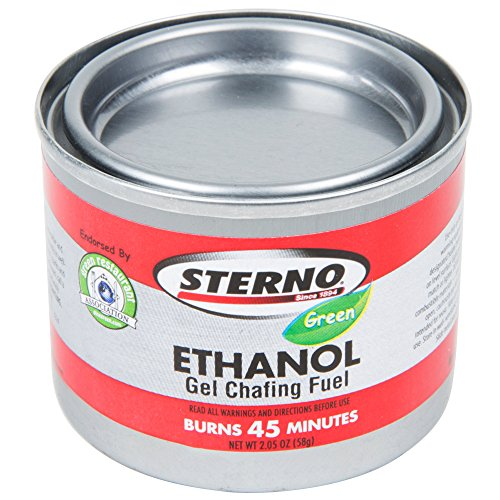 6 Gel Chafing Dish Fuel Canisters - 6/Pack (Sterno Gel Chafing Fuel)