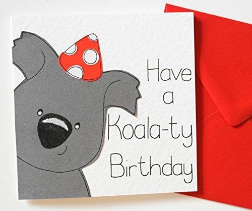 Amazon koala birthday card handmade koala birthday card m4hsunfo
