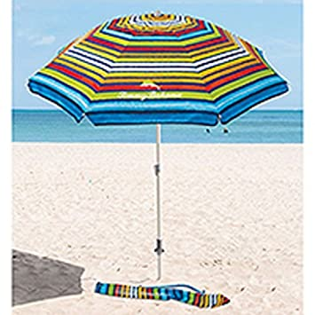 Tommy Bahama Multi Coloured Parasol With Sand Anchor 2 1 M