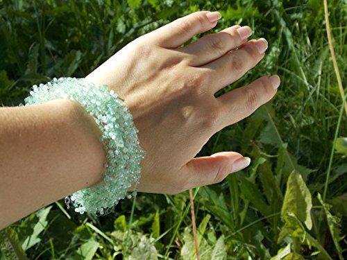 (HANDMADE Mothers day gift Jade bracelet green boho jewelry beaded jewelry for mom rustic bridesmaid)