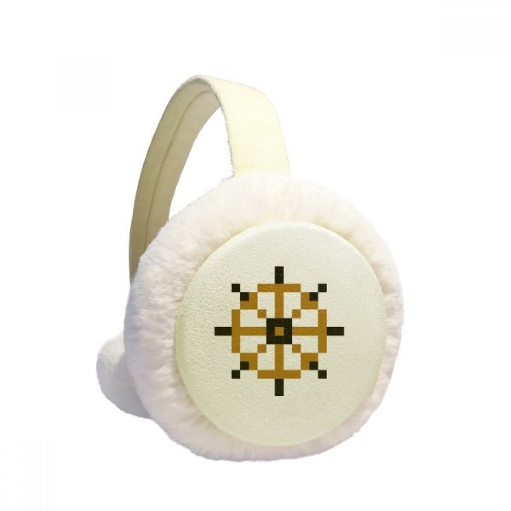 Summer Sail Rudder Pixel Winter Earmuffs Ear Warmers Faux Fur Foldable Plush Outdoor Gift