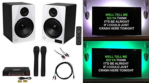 Rockville HTS8W YouTube Karaoke Machine System w/Bluetooth+LED's+Wireless Mics