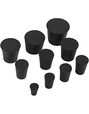 e9f988c4efe 19 Pack (10 Assorted Sizes) 000  -7  Solid Rubber Stoppers