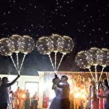 ^YW^ Ywoow Party Wedding, Reusable Luminous Led Balloon Transparent Round Bubble Decoration Party Wedding