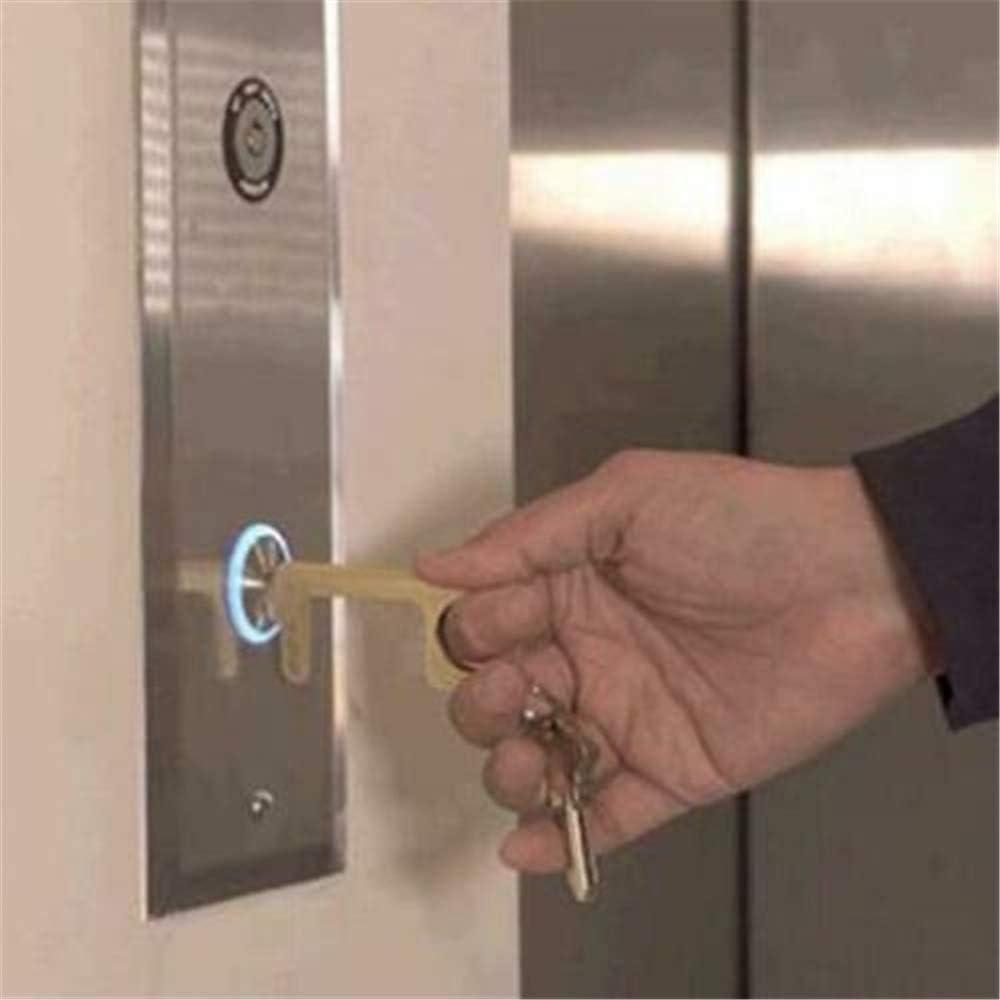 Uso para el Hogar la Oficina 2pcs Manija de Puerta Higi/énica Port/átil el Elevador Abridor de Puerta EDC Antibacteriano Personalizado Sin Tocar Con Las Manos