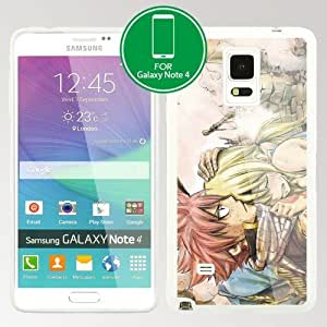 Fairy Tail Manga Anime Comic Samsung Galaxy Note 4 TPU case (#3 White)