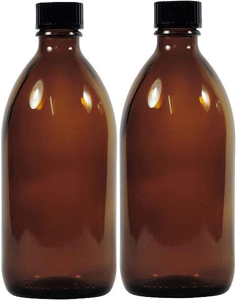 Viva per la casa Bottiglia Farmacia Medicina//braunglasflasche inkulsive Un Etichetta Vetro Marrone 1 x 500ml
