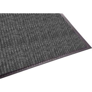 Guardian Golden Series Dual-Rib Indoor Wiper Floor Mat, Vinyl/Polypropylene, 4'x10', Grey