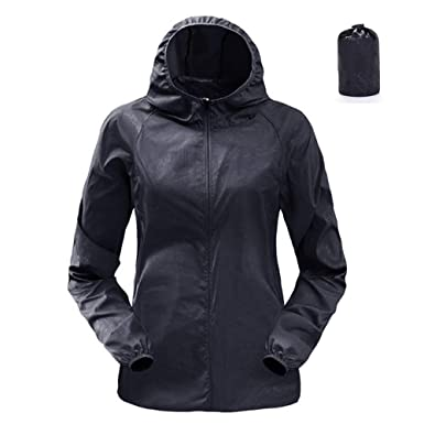 9da747d32 Dihope Women s Waterproof Packaway Jacket Lightweight Hooded Raincoat  Cagoule Kagool (S