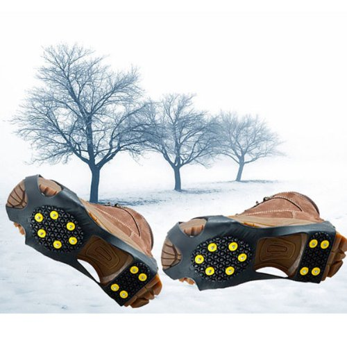 BestDealUSA Cool Over Shoe Studded Snow Grips Ice Grips Anti Slip Snow Shoes Crampons