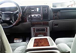 Chevrolet chevy suburban interior burl wood dash trim kit set 2000 2001 2002 automotive for Chevrolet suburban interior parts