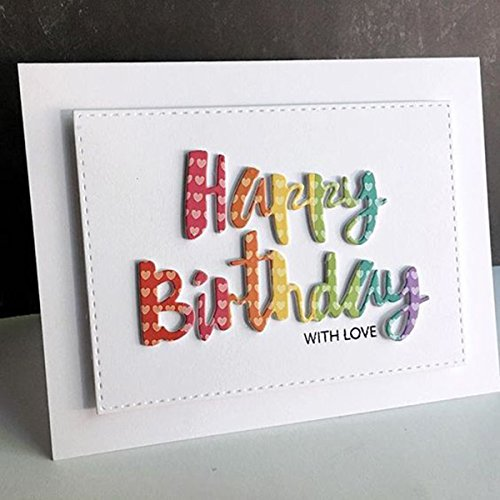 Happy Birthday Words Metal Cutting Dies Stencils for DIY Scrapbooking Photo Album Embossing Paper Cards Crafts (A) by DOULY (Image #5)