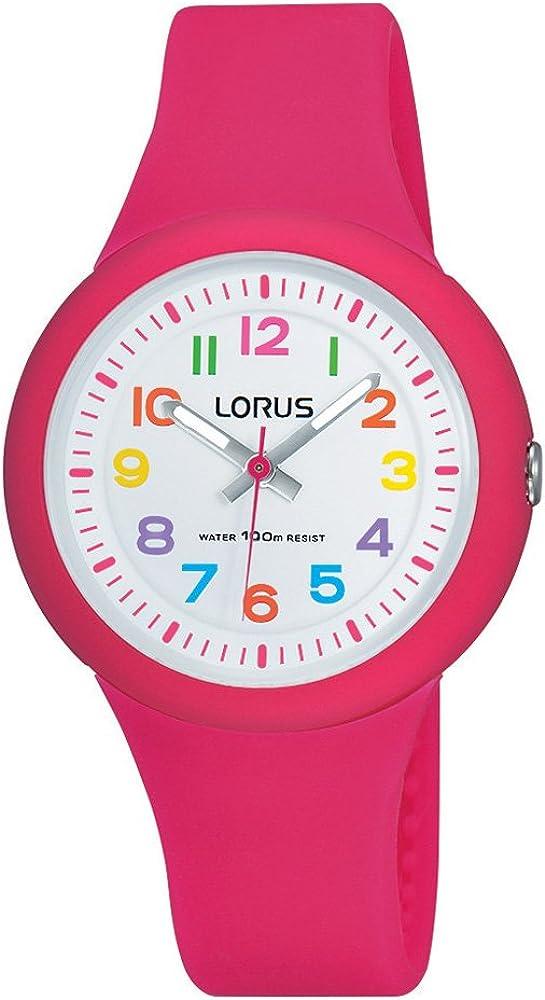 Lorus Reloj Analógico para Niñas de Cuarzo con Correa en Silicona RRX49EX9