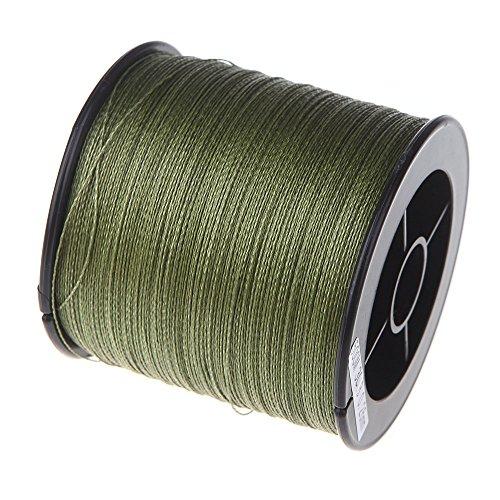 Lixada 500M 30LB 0,26 mm Angelschnur Starke PE Geflochtene 4 Strang (grün)