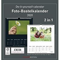 Foto-Bastelkalender 2020 - 2 in 1: schwarz und weiss - Bastelkalender - Do it yourself calendar (21 x 22) - datiert - Fotokalender