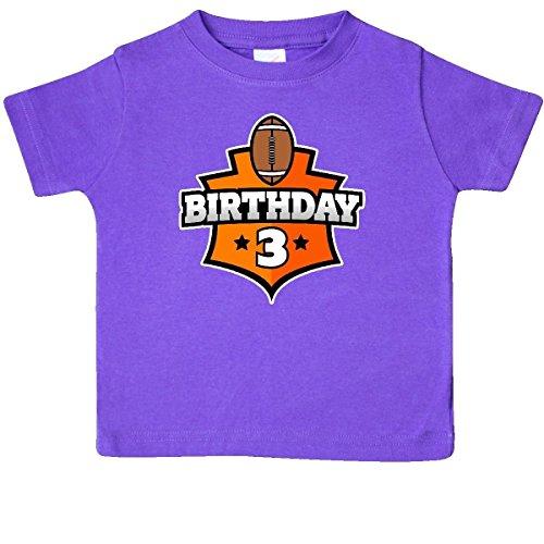 - inktastic - Football 3rd Birthday Baby T-Shirt 18 Months Purple 31be8