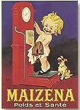 Rétro plaque en métal 20x 15cm Pub Maizena pour enseignants