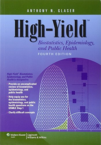 High-Yield Biostatistics, Epidemiology, and Public Health (High-Yield Series) by Glaser MD Ph.D Anthony N. (2013-03-01) Paperback
