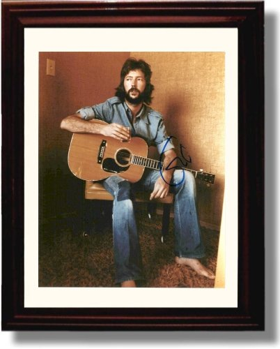 Framed Eric Clapton Autograph Replica (Music Signed Autograph)