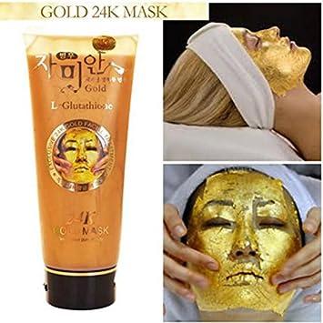 Amazon.com: Máscara de colágeno dorado de 24 quilates - L ...