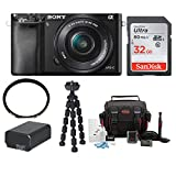 Cheap Sony Alpha a6000 24.3 Interchangeable Lens Camera with 16-50mm Power Zoom Lens Gadget Bundle