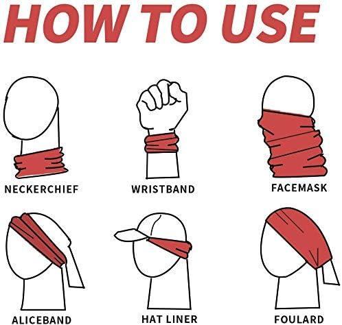 Miedhki Halsmanschette Schlauchmaske Irland Flagge Nackenw/ärmer Gamasche Sturmhaube Skimaske Kopfbedeckung Outdoor Schal Halstuch