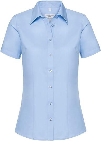 Russell Collection - Camisa de Sastre de Manga Corta para ...