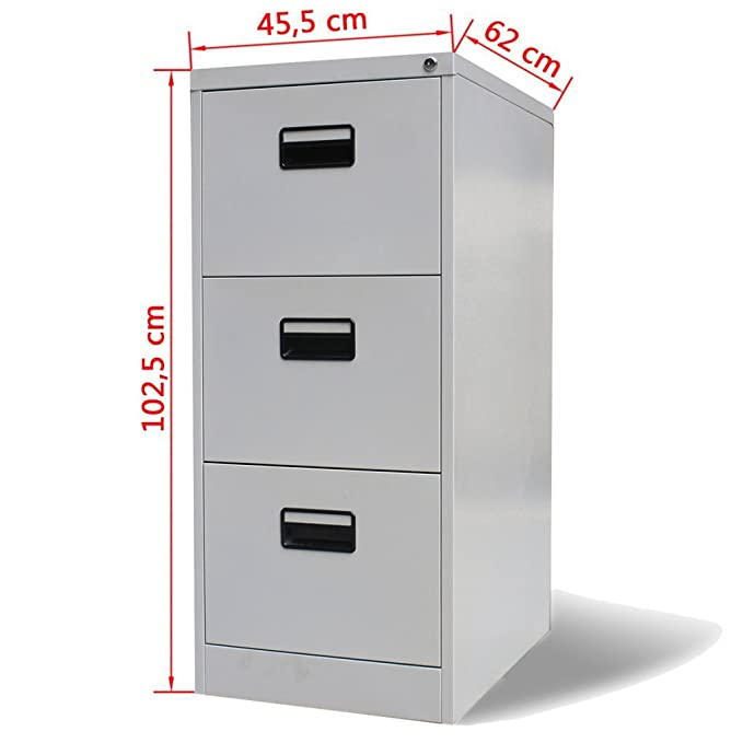 Amazon.com : Festnight Metal Hanging File Cabinet with 3 Drawers, 18