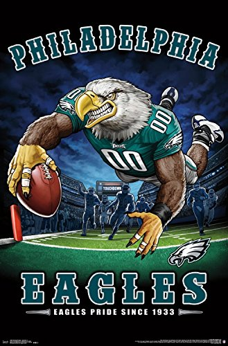 "Trends International Wall Poster Philadelphia Eagles End Zone, 22.375"" x 34"""