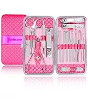 Nail Clippers Manicure Set,Bariicare 18PCS High Precision Stainless Steel Professional Manicure Pedicure Tools Kit for Women & Men…