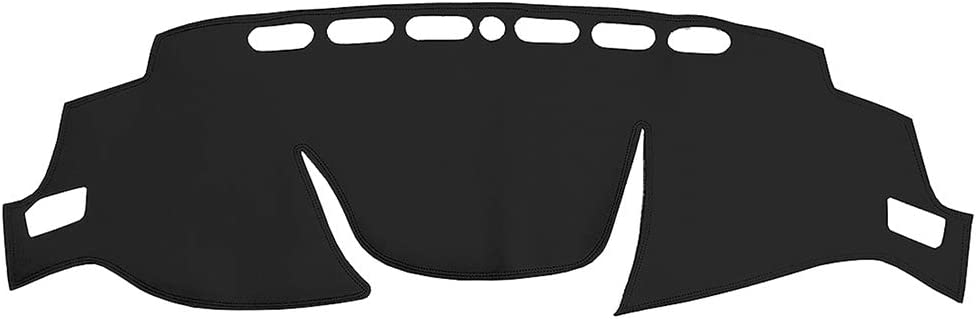 Yeeoy Dashboard Cover Dash Leather Automobile Dashboard Mat Replacement for Rogue X-Trail 2014-2018 Black