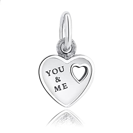 Beautiful Sterling silver 925 sterling Sterling Silver I Love You Charm