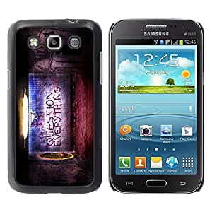 LECELL -- Funda protectora / Cubierta / Piel For Samsung Galaxy Win I8550 I8552 Grand Quattro -- Question Everything --