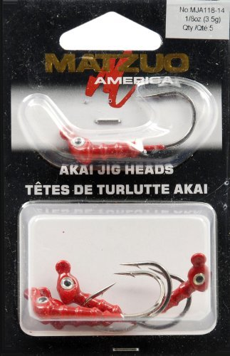Matzuo Akai Jig Heads, Red, 1/8-Ounce ()