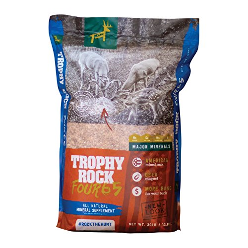 TROPHY ROCK Redmond FOUR65 30lb Bag - All-Natural Crushed Granular Mineral, Attract Deer and Big Game