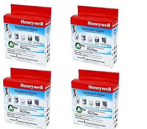 Honeywell Premium Odor-Reducing Air Purifier Replacement Pre-Filter, HRF-APP1 / Filter (A+) (4 Pack)