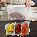 Dergo 6XTranslucent Frosted PEVA Food Storage Bag Eefrigerator Food Storage