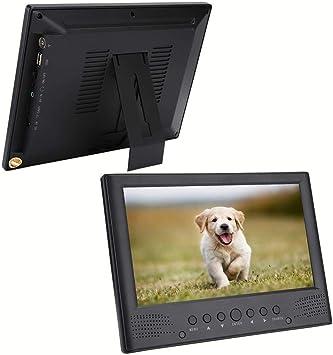 Altavoces Delanteros TV Digital USB, TV portátil, con Soporte y Cargador de Coche de 12V, para Exteriores para el hogar: Amazon.es: Electrónica