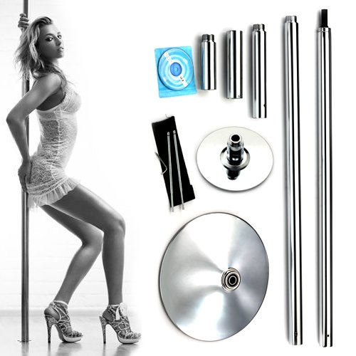 Xperience, Formally Known As X-Dance 45mm Portable Dance Pole Kit Fitness Dancing Exercise By Commercial (Portable Pole Dancing Kit)