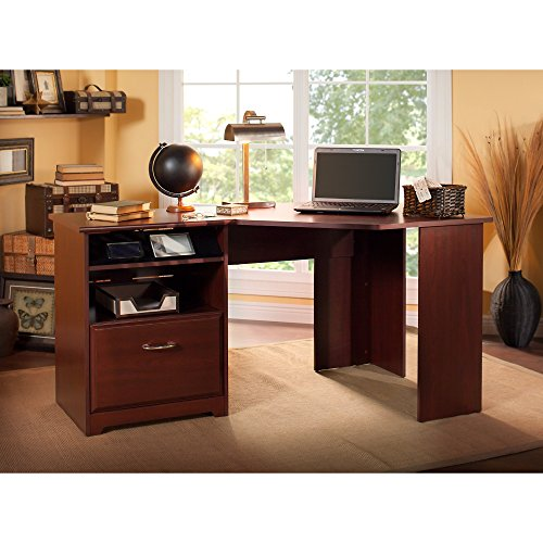 Cabot Corner Desk in Harvest Cherry (Desk Cabot Computer Corner)