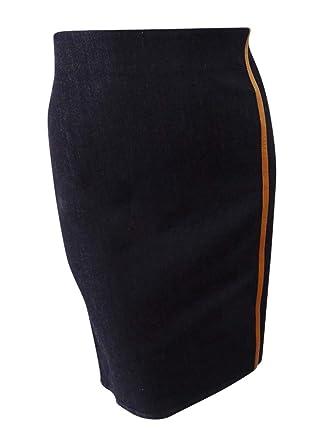 16e836bafe0 Amazon.com  Lauren Ralph Lauren Women s Stretch Denim Pencil Skirt  Clothing