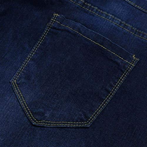 Alta Cremallera Pantalón Vaqueros Pantalones Elástica Adelina Y De Para Mujer Con Blau Acogedores Ropa Bolsillos Cintura Otoño z6d6w1Pq