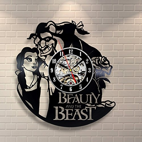 Disney Beauty And The Beast Vinyl Clock