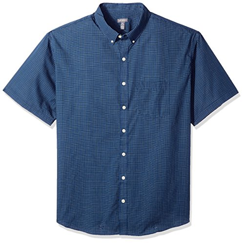 Van Heusen Men's Big and Tall Wrinkle Free Short Sleeve Button Down Shirt, Carbon Blue, 2X-Large ()