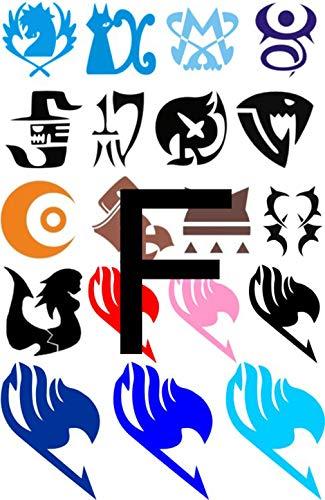 Fairy Tail Cosplay Wendy Elfman Lucy Heartfilia Natsu Erza Gray Temporary Tattoos Tattooing Stickers (E0508-f)]()
