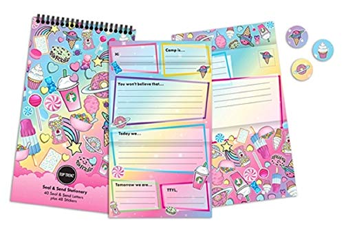 Top Trenz Send & Seal Stationery Set Great for Home or Camp (Planet Sweets)